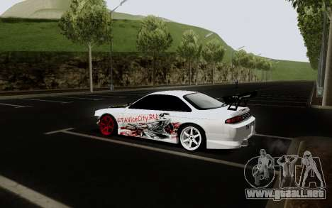 Nissan Silvia S14 VCDT V2.0 para GTA San Andreas vista hacia atrás