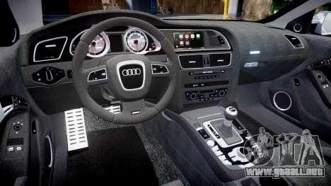 Audi RS5 2012 v2.0 para GTA 4 vista interior