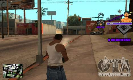 C-HUD King Of Detroit para GTA San Andreas sucesivamente de pantalla
