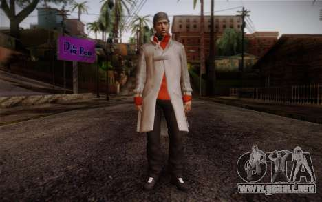 Aiden Pearce from Watch Dogs v7 para GTA San Andreas