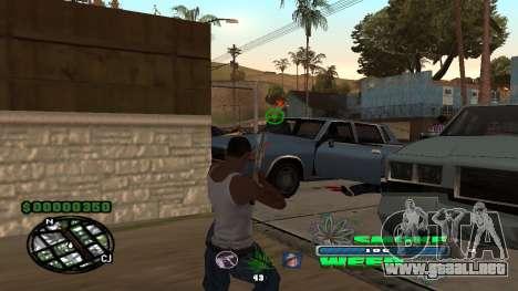 C-HUD Smoke Weed para GTA San Andreas tercera pantalla