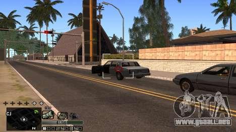 C-HUD Silver para GTA San Andreas sucesivamente de pantalla