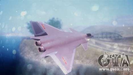 Chenyang J-20 Air Force BF4 para GTA San Andreas left