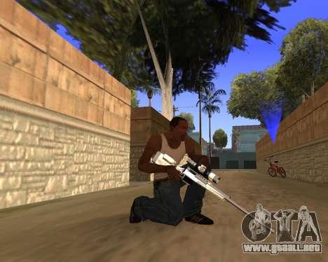 Clear weapon pack para GTA San Andreas quinta pantalla