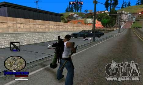 C-HUD Normal para GTA San Andreas quinta pantalla