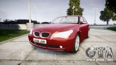BMW 525d E60 2006 para GTA 4
