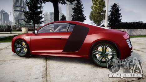 Audi R8 V10 Plus 2014 para GTA 4 left
