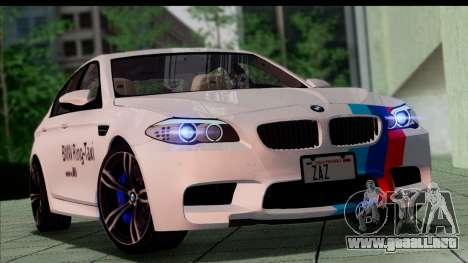 BMW M5 F10 2012 para las ruedas de GTA San Andreas