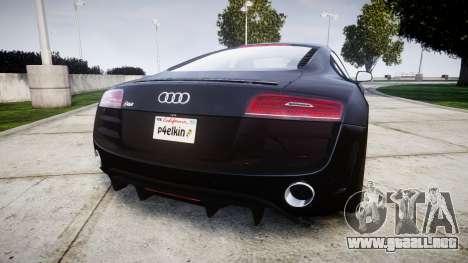 Audi R8 plus 2013 HRE rims para GTA 4 Vista posterior izquierda
