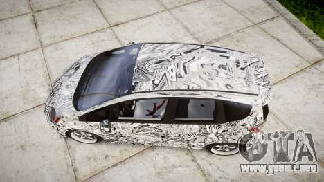 Honda Fit 2006 Sharpie para GTA 4 visión correcta