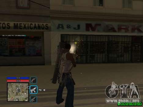 C-HUD Only Ghetto para GTA San Andreas sucesivamente de pantalla