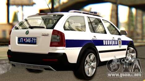 Skoda Octavia Scout Police para GTA San Andreas left