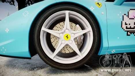 Ferrari 458 Italia 2010 v3.0 Purrari para GTA 4 vista hacia atrás