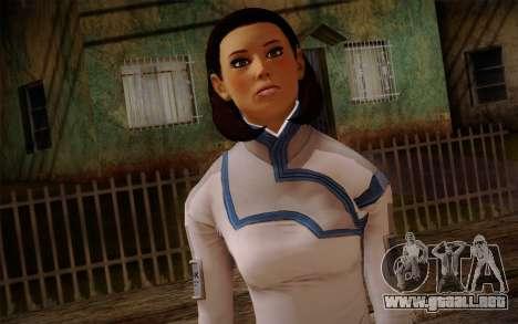 Dr. Eva Sci Fi New Face from Mass Effect para GTA San Andreas tercera pantalla