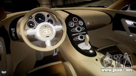 Bugatti Veyron 16.4 v2.0 para GTA 4 vista interior