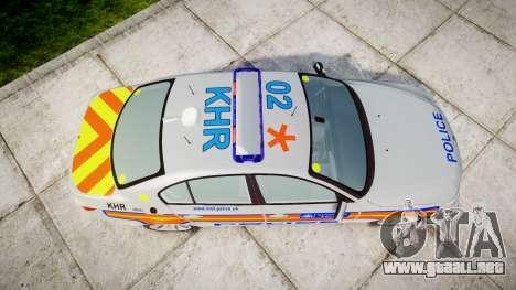 BMW 525d E60 2010 Police [ELS] para GTA 4 visión correcta