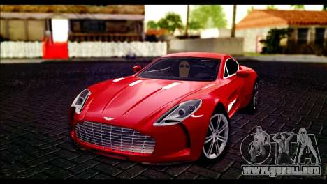 Aston Martin One-77 Black Beige para GTA San Andreas