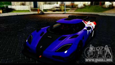 Koenigsegg One:1 v2 para vista lateral GTA San Andreas