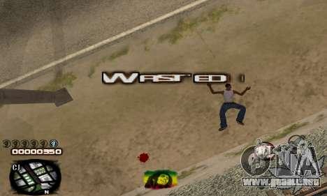 C-HUD Rasta para GTA San Andreas sucesivamente de pantalla