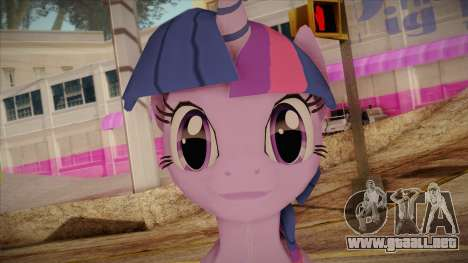 Twilight Sparkle from My Little Pony para GTA San Andreas tercera pantalla