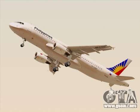 Airbus A320-200 Philippines Airlines para la visión correcta GTA San Andreas