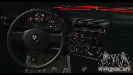 BMW M3 E30 Stock para GTA San Andreas vista posterior izquierda