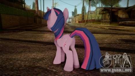 Twilight Sparkle from My Little Pony para GTA San Andreas segunda pantalla