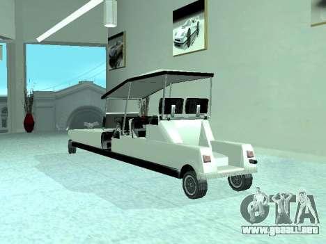 Limgolf para GTA San Andreas vista hacia atrás
