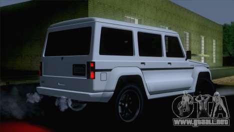 GTA 5 Benefactor Dubsta IVF para GTA San Andreas left