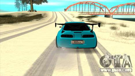 Toyota Supra Blue Lightning para la visión correcta GTA San Andreas