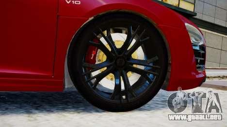 Audi R8 V10 Plus 2014 v1.0 para GTA 4 Vista posterior izquierda