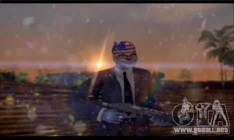 Corsar PayDay 2 ENB para GTA San Andreas quinta pantalla