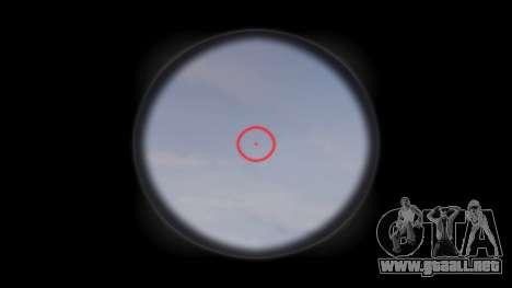 El AK-47 Colimador de destino para GTA 4 tercera pantalla