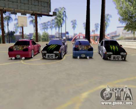 Elegy v2.0 para GTA San Andreas vista hacia atrás