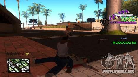 C-HUD Ghetto Tawer para GTA San Andreas segunda pantalla
