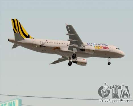 Airbus A320-200 Tigerair Philippines para visión interna GTA San Andreas