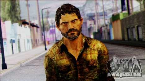 Joel from The Last Of Us para GTA San Andreas tercera pantalla