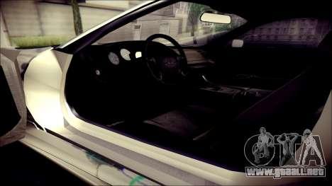 Toyota Supra Street Edition para GTA San Andreas vista hacia atrás