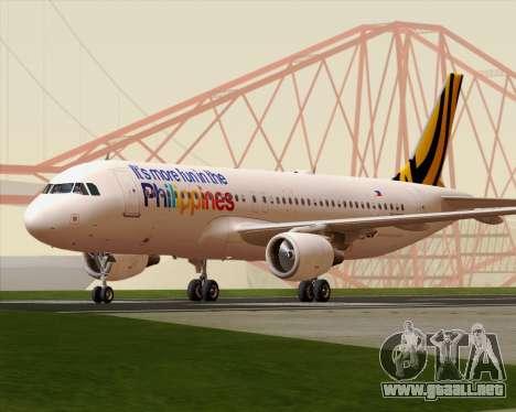 Airbus A320-200 Tigerair Philippines para GTA San Andreas left