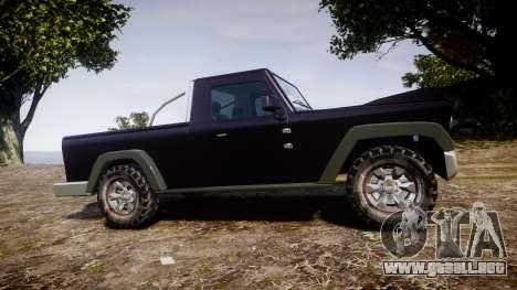 Senran Pioneer Pickup para GTA 4 left