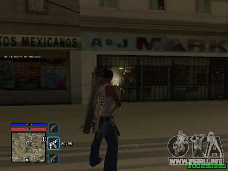 C-HUD Only Ghetto para GTA San Andreas tercera pantalla