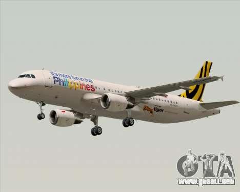 Airbus A320-200 Tigerair Philippines para las ruedas de GTA San Andreas