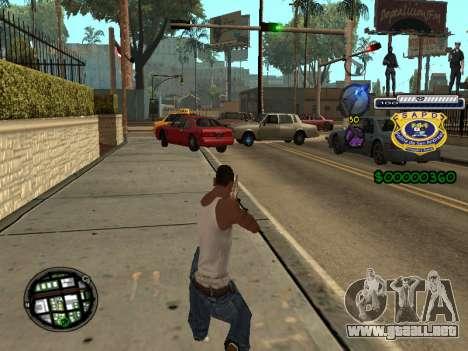 C-HUD Police S.A.P.D para GTA San Andreas segunda pantalla