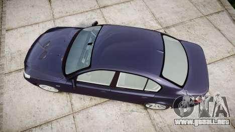 BMW 525d E60 2009 para GTA 4 visión correcta