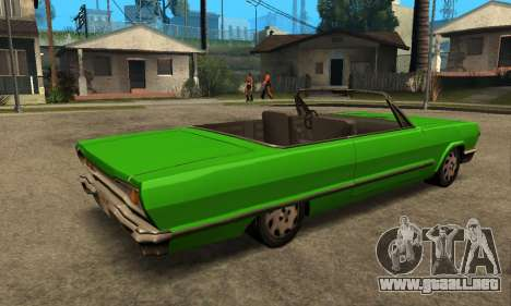 Beta Savanna para GTA San Andreas vista hacia atrás