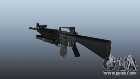 Rifle M16A2 M203 sight1 para GTA 4 segundos de pantalla