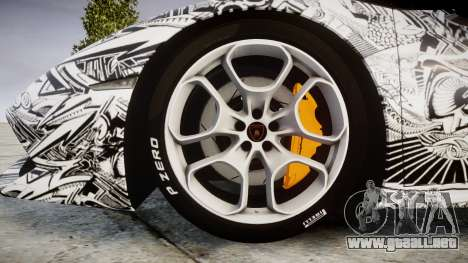 Lamborghini Huracan LP610-4 2015 Sharpie para GTA 4 vista hacia atrás