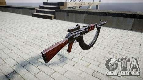 El AK-47 Colimador. Hocico y HICAP para GTA 4 segundos de pantalla
