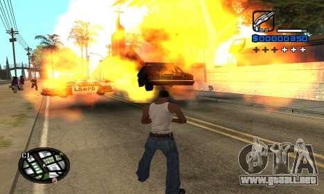 Samaro C-HUD para GTA San Andreas sucesivamente de pantalla