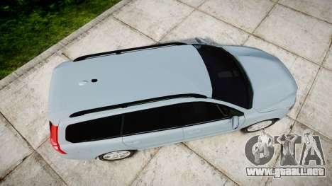 Volvo V70 2014 Swedish Police [ELS] Unmarked para GTA 4 visión correcta